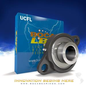 2 Bolt Flange Stainless Steel Ceramic Hybrid UCFL
