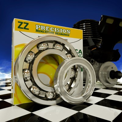 OS ENGINES FS-120E SURPASS 120 RC Engine Bearings Bearing Applications