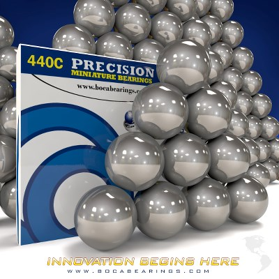17/64 IN SS440C BALL GRADE 25 (100 PCS)