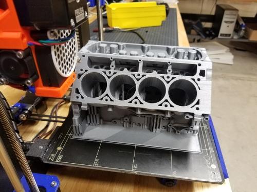 3D Printed Camaro LS3 V8 Engine by Boca Bearings :: Ceramic